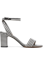Leticia striped canvas sandals