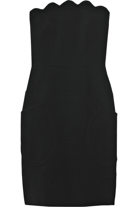Miu Miu Scalloped strapless dress
