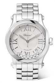Chopard Happy Sport 36 stainless steel and diamond watch