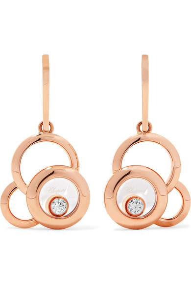 Chopard - Happy Dreams 18-karat Rose Gold Diamond Earrings