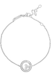 Chopard Happy Diamonds 18-karat white gold diamond bracelet