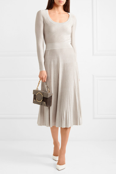 Wholesale Best Store To Get Cheap Price Metallic Ribbed-knit Midi Dress - Gray Barbara Casasola Looking For Online Clearance Best VAnId
