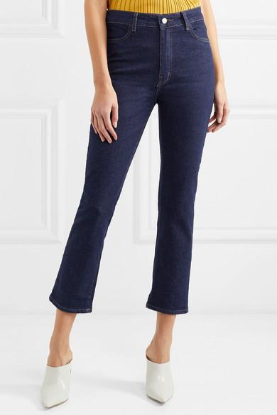 CASASOLA Verkürzte, hoch sitzende Jeans mit geradem Bein