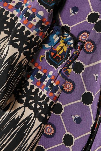Anna Sui Bedrucktes Maxikleid aus Crêpe de Chine aus Seide und Georgette