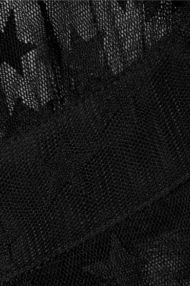 Anna Sui Shooting Star Jacke aus Tüll mit Point d'Esprit