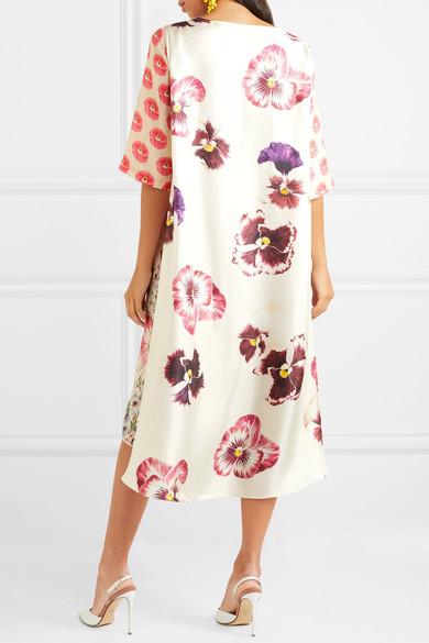 Biyan Arlo Kleid aus Seiden-Twill mit Blumendruck