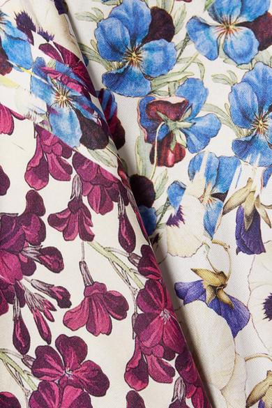 Spielraum Angebote Austritt Aus Deutschland Biyan Sokka Bluse aus Seiden-Twill mit Blumendruck und Cape-Effekt SxIV4bmeCV