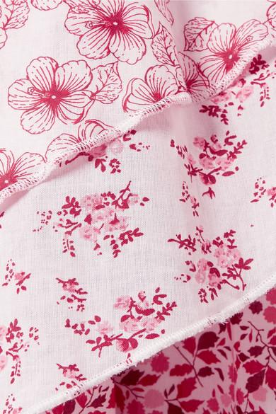 Gül Hürgel Verziertes Kleid aus Baumwolle mit Blumenprint und Gürtel
