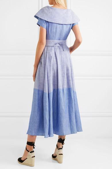 Gül Hürgel Kleid aus einer Leinen-Baumwollmischung