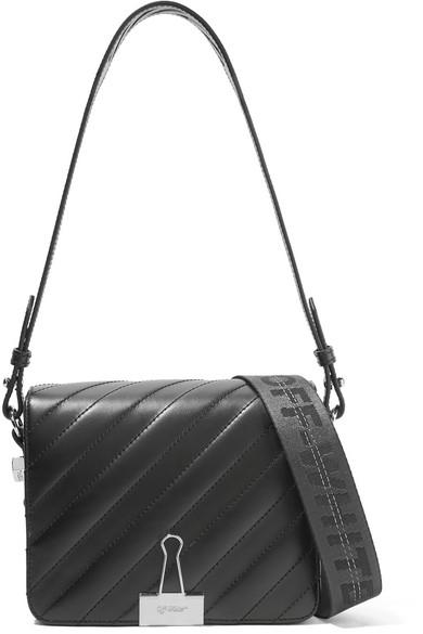 Off-White - Quilted Leather Shoulder Bag - Black