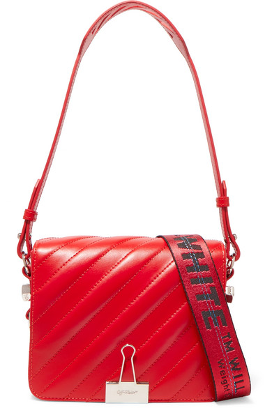 Off-White - Quilted Leather Shoulder Bag - Red