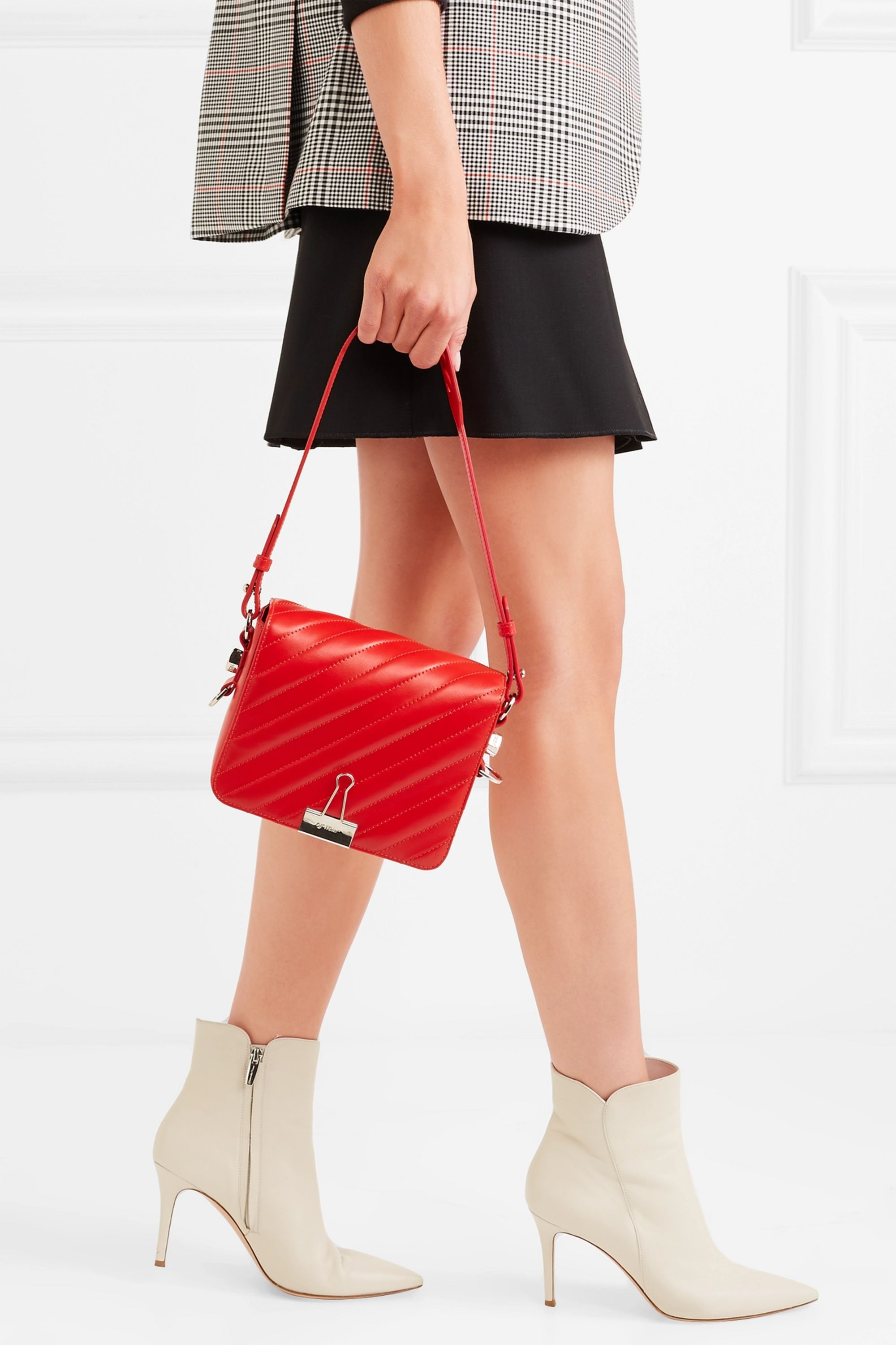 Off-White Quilted leather shoulder bag