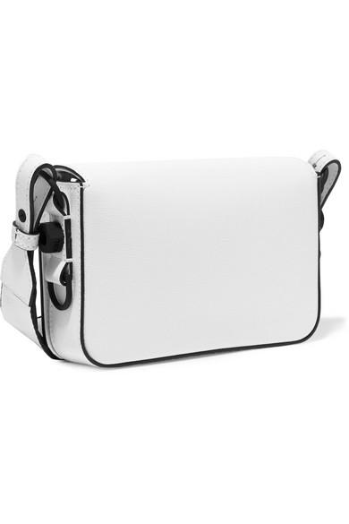 Mini Striped Textured Leather Shoulder Bag