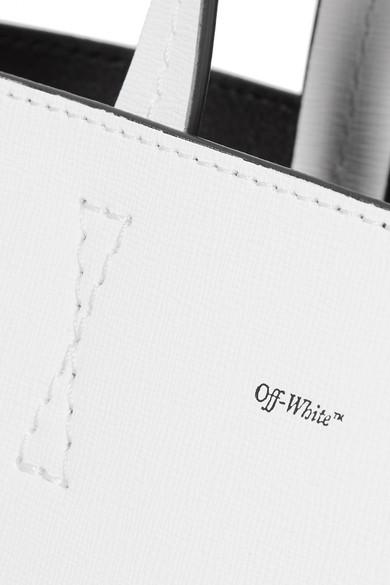 Off-White Medium bedruckte Tote aus strukturiertem Leder