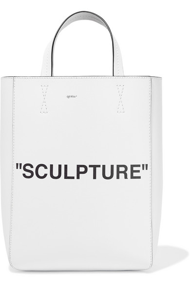 Off-White - Medium Printed Textured-leather Tote