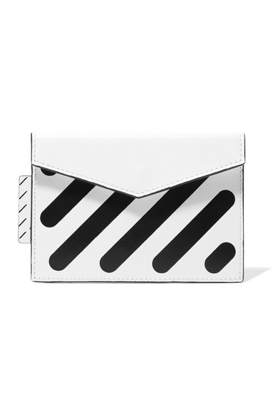 Off-White - Printed Textured-leather Cardholder