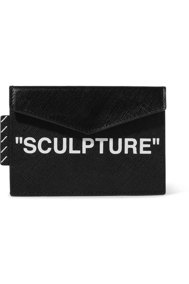 Off-White - Printed Textured-leather Cardholder - Black
