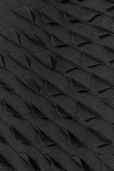 Alaïa Papillon lasergeschnittenes Midikleid aus Stretch-Strick