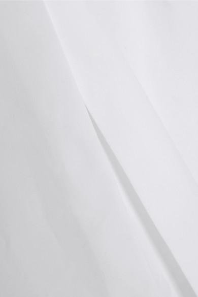Alaïa Midikleid aus Baumwollpopeline