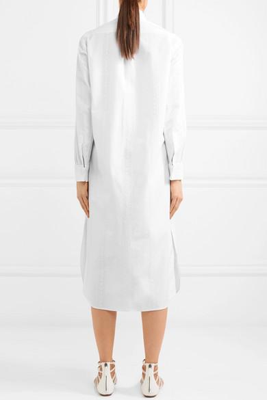 Alaïa Besticktes Hemdblusenkleid aus Baumwollpopeline