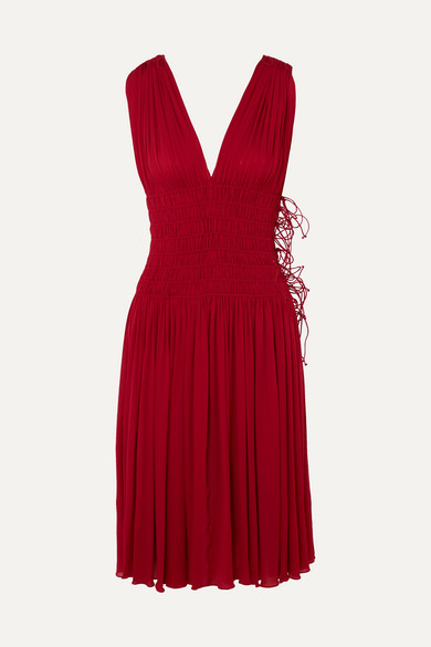 Alaïa Kleid aus Jersey mit gesmokten Details und Falten Wählen Sie Eine Beste Online Auslass Nicekicks Beliebt Freies Verschiffen Veröffentlichungstermine 1Aqy7va