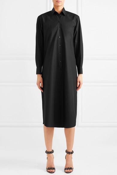 Alaïa Hemdblusenkleid aus Baumwollpopeline
