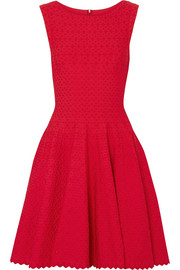 Alaïa Malte jacquard-knit mini dress