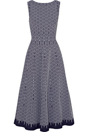 Alaïa Jacquard-knit midi dress