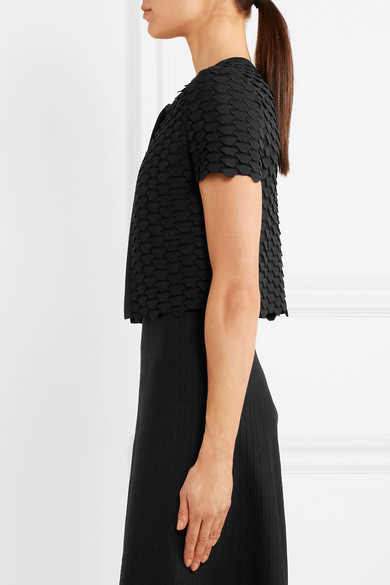 Alaïa Shortened Cardigan From A Silk Blend With Sidewalls