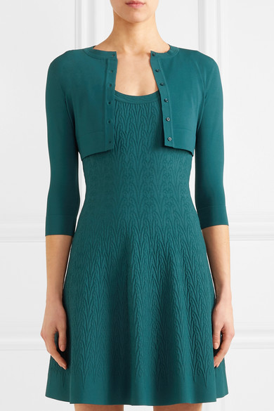 Alaïa Shortened Cardigan From Stretch-knit
