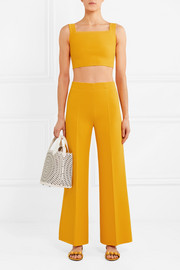 Alaïa Cropped knitted wide-leg pants
