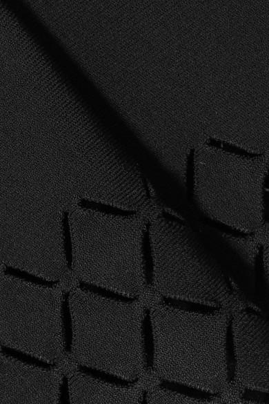 Alaïa Gestrickter Minirock mit lasergeschnittenen Details