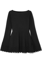 Alaïa Diamond laser-cut knitted tunic