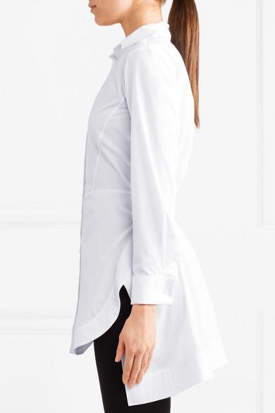 Alaïa Hemd aus Baumwollpopeline mit Schößchen
