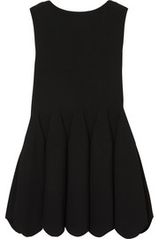 Alaïa Pintucked stretch-knit top