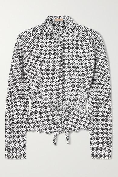 Alaïa Hemd aus Faille mit Stickereien