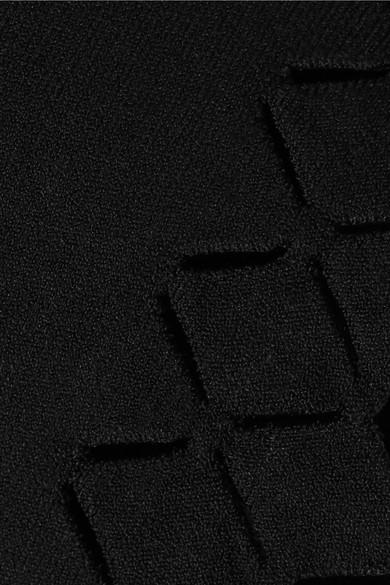 Alaïa Verkürztes Strickoberteil mit lasergeschnittenen Details