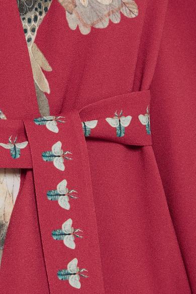 Vilshenko Claudine Printed Maxi Dress In Crêpe De Chine In Winding Optics