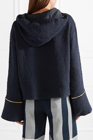 Geniue Händler Zum Verkauf Mother of Pearl Max Kapuzenoberteil aus Baumwoll-Tweed mit Kettenverzierungen Einkaufen Outlet Online Rabatt 100% Original JPUyZV