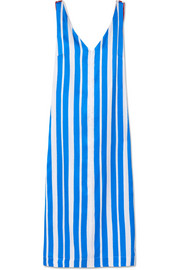 Maisie striped silk-satin midi dress