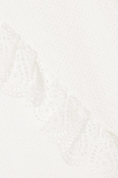Goen J Midikleid aus Baumwolle mit Lochstickerei und Rüschen