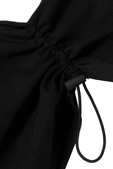 Goen J Oberteil aus Crêpe mit asymmetrischer Schulterpartie