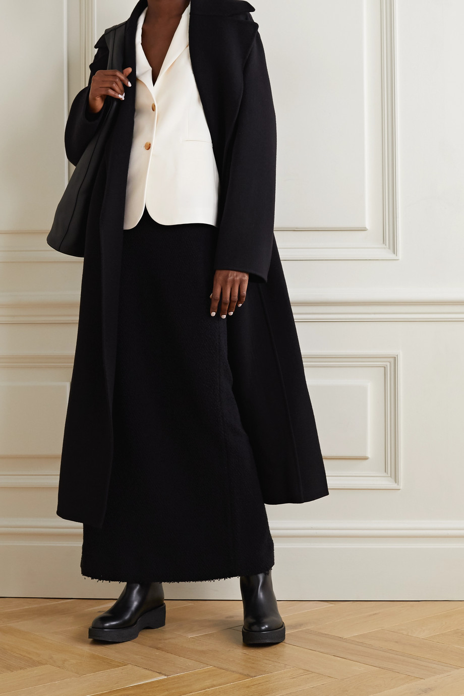 The Row Schoolboy 弹力羊毛混纺绉纱西装式外套