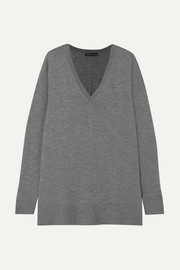 The Row Amherst oversized cashmere and silk-blend sweater
