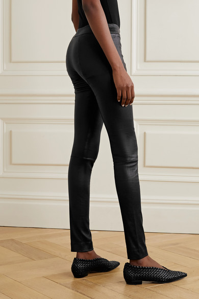 The Row Moto Leggings aus Stretch-Leder