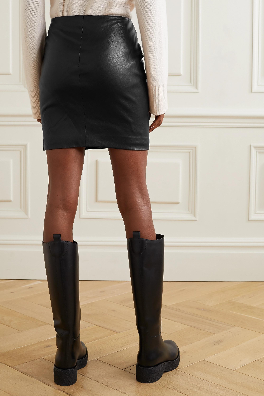 The Row Loattan stretch-leather mini skirt