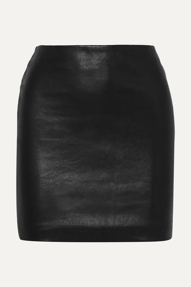 The Row Loattan Minirock aus Stretch-Leder