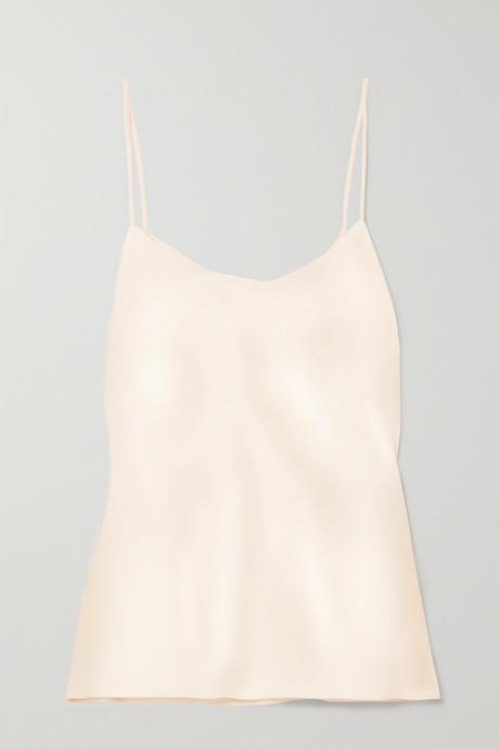 Cream Biggins matte-satin camisole  | The Row BLiAcX