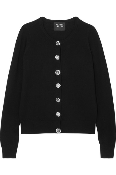 Markus Lupfer April Cardigan From Merino Wool With Ornaments