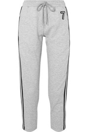 Daria striped embellished jersey track pants